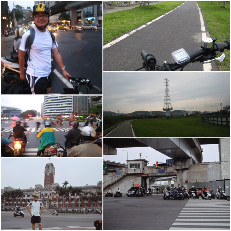 Pictures showing various scenes in Taipei City