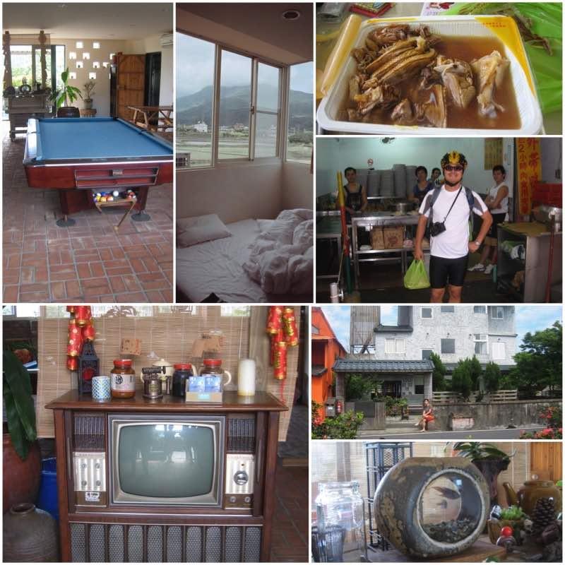 image grid snooker, room, vintage TV, goose meat