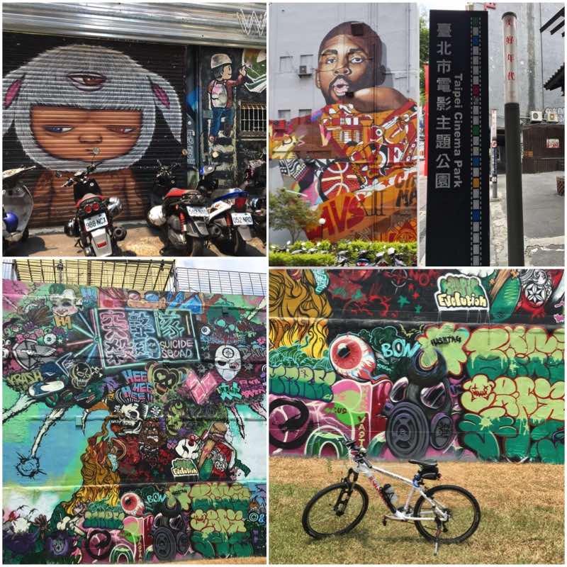 Four Large Graffitis