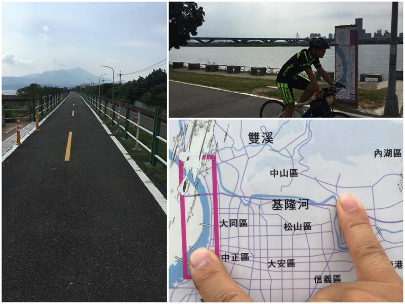 Riverside bikeways in Taipei