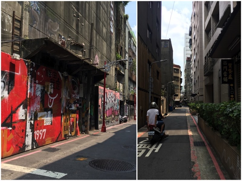 Quite alleys with Graffiti