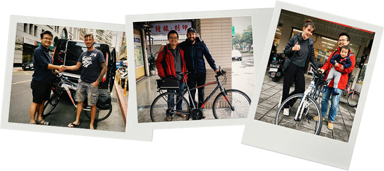 Bicycles delivered to clients