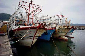 Colourful fishing boat