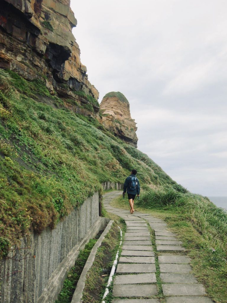 Trail on Bitoujiao ridge