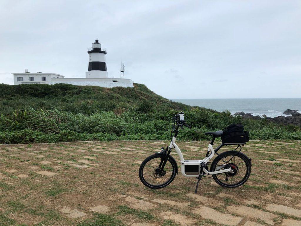E bike and a lighthouse