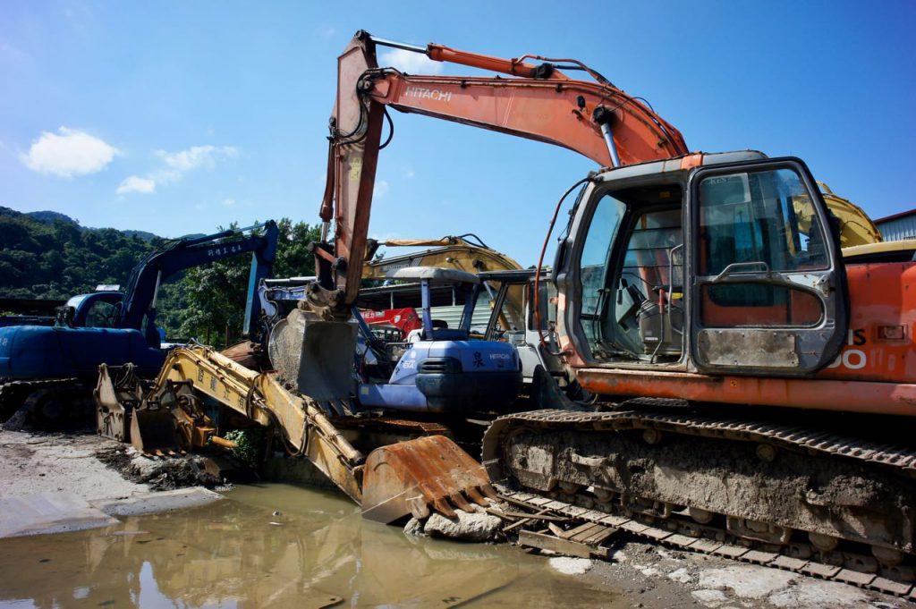 Abandoned excavators