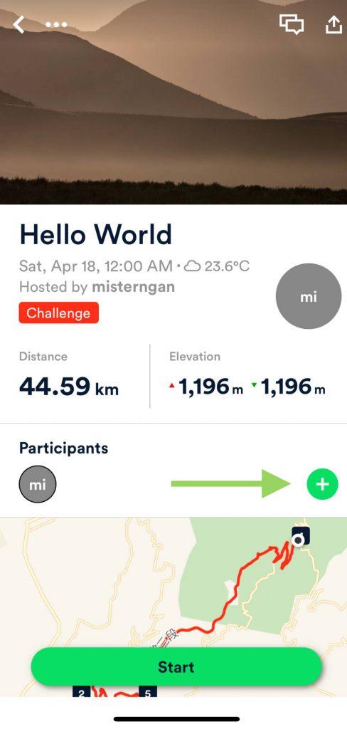 Add your friends as participants
