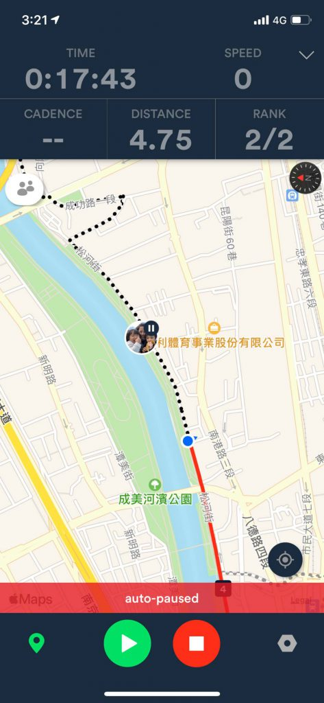 Real-time location sharing on Velodash