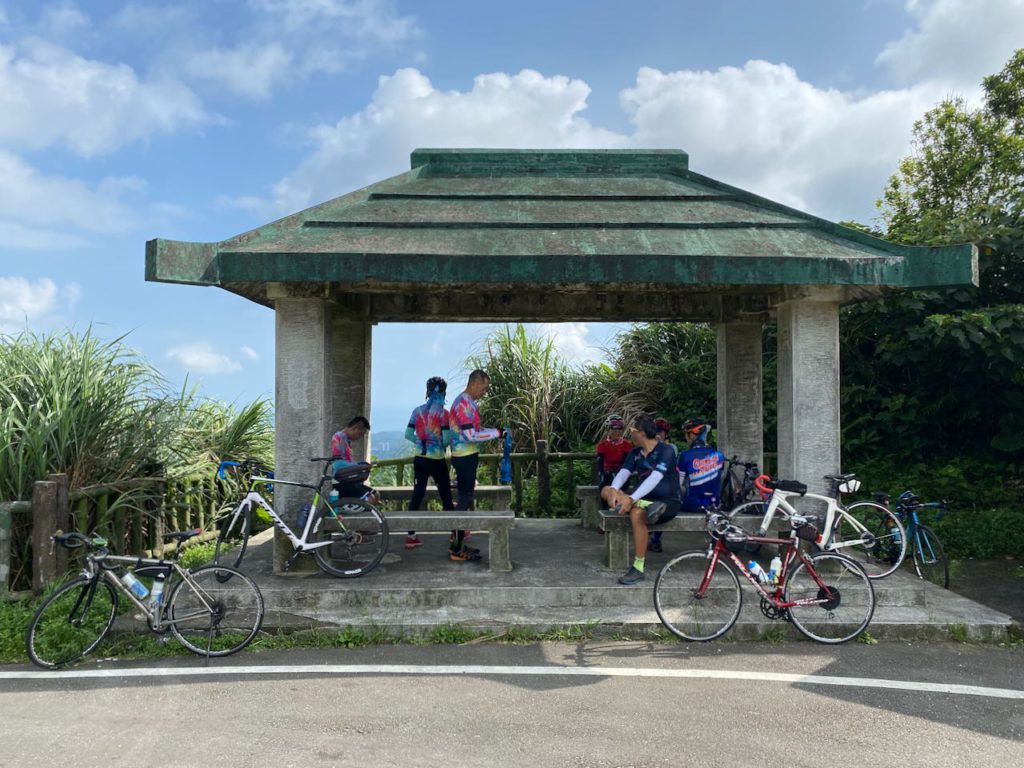 Cyclists resting pavilion